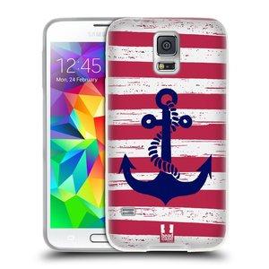 Silikonové pouzdro na mobil Samsung Galaxy S5 Neo HEAD CASE KOTVA S PRUHY