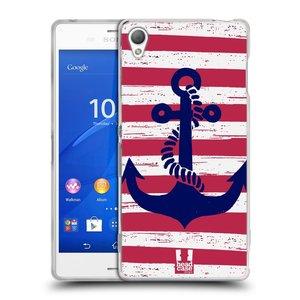 Silikonové pouzdro na mobil Sony Xperia Z3 D6603 HEAD CASE KOTVA S PRUHY