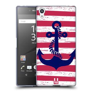 Silikonové pouzdro na mobil Sony Xperia Z5 Premium HEAD CASE KOTVA S PRUHY