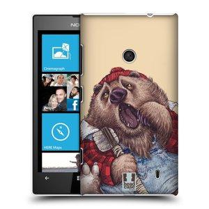 Plastové pouzdro na mobil Nokia Lumia 520 HEAD CASE ANIMPLA MEDVĚD