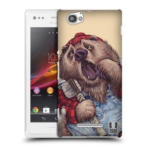 Plastové pouzdro na mobil Sony Xperia M C1905 HEAD CASE ANIMPLA MEDVĚD