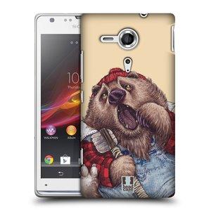 Plastové pouzdro na mobil Sony Xperia SP C5303 HEAD CASE ANIMPLA MEDVĚD