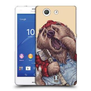 Plastové pouzdro na mobil Sony Xperia Z3 Compact D5803 HEAD CASE ANIMPLA MEDVĚD