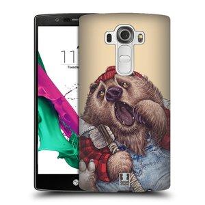 Plastové pouzdro na mobil LG G4 HEAD CASE ANIMPLA MEDVĚD