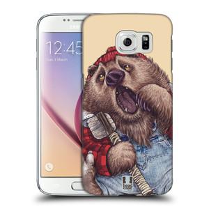 Plastové pouzdro na mobil Samsung Galaxy S6 HEAD CASE ANIMPLA MEDVĚD