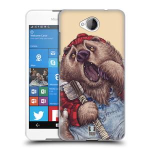 Plastové pouzdro na mobil Microsoft Lumia 650 HEAD CASE ANIMPLA MEDVĚD