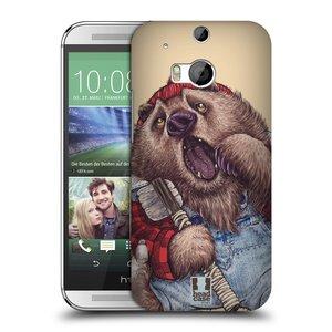 Plastové pouzdro na mobil HTC ONE M8 HEAD CASE ANIMPLA MEDVĚD