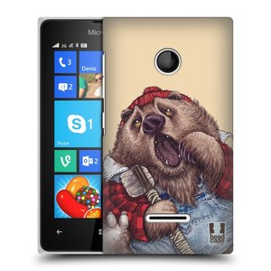 Plastové pouzdro na mobil Microsoft Lumia 435 HEAD CASE ANIMPLA MEDVĚD