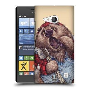 Plastové pouzdro na mobil Nokia Lumia 735 HEAD CASE ANIMPLA MEDVĚD