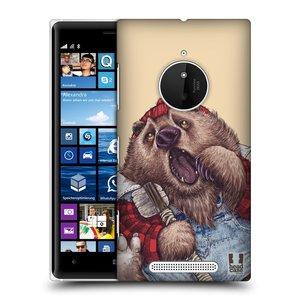 Plastové pouzdro na mobil Nokia Lumia 830 HEAD CASE ANIMPLA MEDVĚD