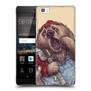 Plastové pouzdro na mobil Huawei P8 Lite HEAD CASE ANIMPLA MEDVĚD