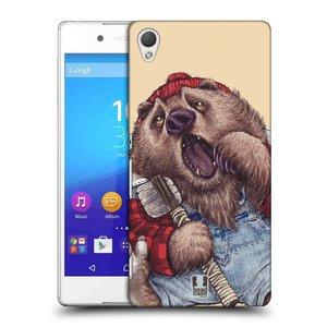Plastové pouzdro na mobil Sony Xperia Z3+ (Plus) HEAD CASE ANIMPLA MEDVĚD