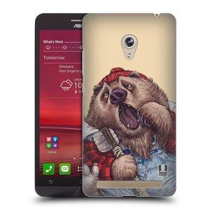 Plastové pouzdro na mobil Asus Zenfone 6 HEAD CASE ANIMPLA MEDVĚD