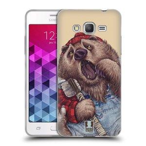 Silikonové pouzdro na mobil Samsung Galaxy Grand Prime VE HEAD CASE ANIMPLA MEDVĚD