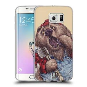 Silikonové pouzdro na mobil Samsung Galaxy S6 Edge HEAD CASE ANIMPLA MEDVĚD
