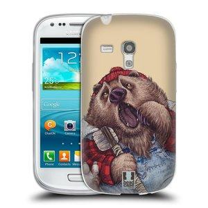 Silikonové pouzdro na mobil Samsung Galaxy S III Mini HEAD CASE ANIMPLA MEDVĚD