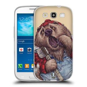 Silikonové pouzdro na mobil Samsung Galaxy S3 Neo HEAD CASE ANIMPLA MEDVĚD