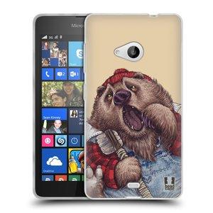 Silikonové pouzdro na mobil Microsoft Lumia 535 HEAD CASE ANIMPLA MEDVĚD