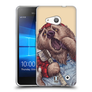 Silikonové pouzdro na mobil Microsoft Lumia 550 HEAD CASE ANIMPLA MEDVĚD