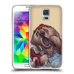 Silikonové pouzdro na mobil Samsung Galaxy S5 Neo HEAD CASE ANIMPLA MEDVĚD