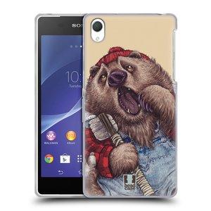 Silikonové pouzdro na mobil Sony Xperia Z2 D6503 HEAD CASE ANIMPLA MEDVĚD