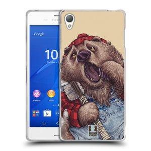 Silikonové pouzdro na mobil Sony Xperia Z3 D6603 HEAD CASE ANIMPLA MEDVĚD