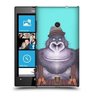 Plastové pouzdro na mobil Nokia Lumia 520 HEAD CASE ANIMPLA GORILÁK