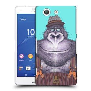 Plastové pouzdro na mobil Sony Xperia Z3 Compact D5803 HEAD CASE ANIMPLA GORILÁK