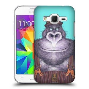 Plastové pouzdro na mobil Samsung Galaxy Core Prime LTE HEAD CASE ANIMPLA GORILÁK