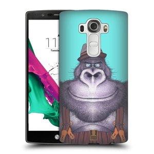 Plastové pouzdro na mobil LG G4 HEAD CASE ANIMPLA GORILÁK