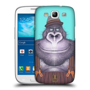 Plastové pouzdro na mobil Samsung Galaxy S III HEAD CASE ANIMPLA GORILÁK