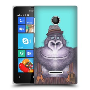 Plastové pouzdro na mobil Microsoft Lumia 435 HEAD CASE ANIMPLA GORILÁK