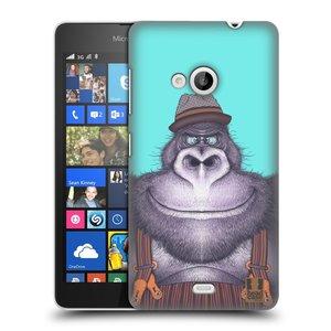Plastové pouzdro na mobil Microsoft Lumia 535 HEAD CASE ANIMPLA GORILÁK