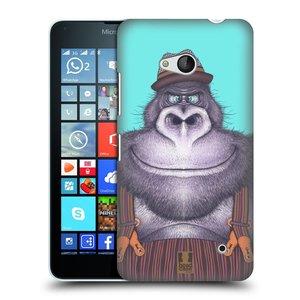 Plastové pouzdro na mobil Microsoft Lumia 640 HEAD CASE ANIMPLA GORILÁK