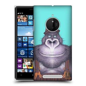 Plastové pouzdro na mobil Nokia Lumia 830 HEAD CASE ANIMPLA GORILÁK