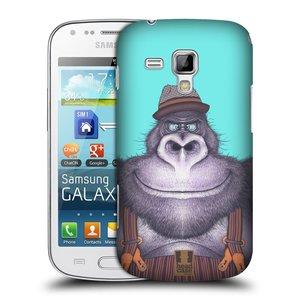 Plastové pouzdro na mobil Samsung Galaxy S Duos 2 HEAD CASE ANIMPLA GORILÁK