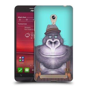 Plastové pouzdro na mobil Asus Zenfone 6 HEAD CASE ANIMPLA GORILÁK