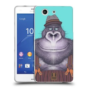 Silikonové pouzdro na mobil Sony Xperia Z3 Compact D5803 HEAD CASE ANIMPLA GORILÁK