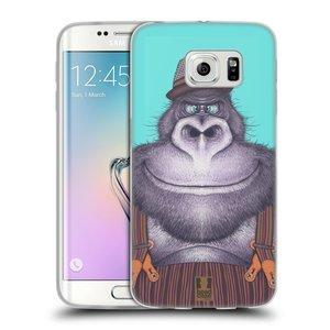 Silikonové pouzdro na mobil Samsung Galaxy S6 Edge HEAD CASE ANIMPLA GORILÁK