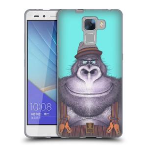 Silikonové pouzdro na mobil Honor 7 HEAD CASE ANIMPLA GORILÁK