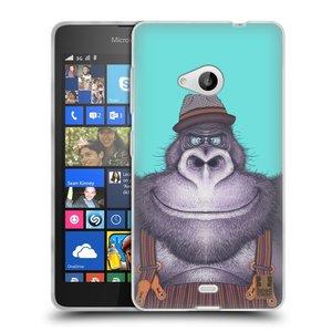 Silikonové pouzdro na mobil Microsoft Lumia 535 HEAD CASE ANIMPLA GORILÁK