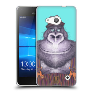 Silikonové pouzdro na mobil Microsoft Lumia 550 HEAD CASE ANIMPLA GORILÁK
