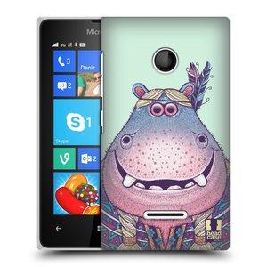 Plastové pouzdro na mobil Microsoft Lumia 435 HEAD CASE ANIMPLA HROŠICE