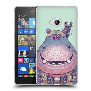 Silikonové pouzdro na mobil Microsoft Lumia 535 HEAD CASE ANIMPLA HROŠICE