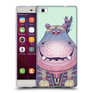 Silikonové pouzdro na mobil Huawei P8 HEAD CASE ANIMPLA HROŠICE