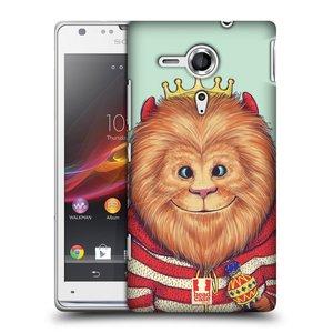 Plastové pouzdro na mobil Sony Xperia SP C5303 HEAD CASE ANIMPLA LVÍČEK