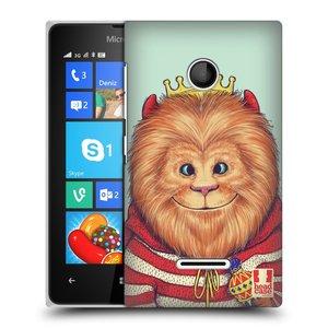 Plastové pouzdro na mobil Microsoft Lumia 435 HEAD CASE ANIMPLA LVÍČEK