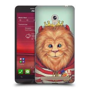 Plastové pouzdro na mobil Asus Zenfone 6 HEAD CASE ANIMPLA LVÍČEK