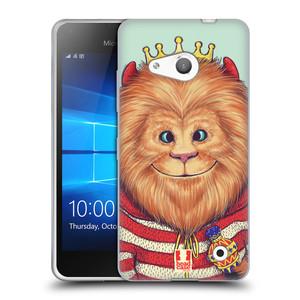 Silikonové pouzdro na mobil Microsoft Lumia 550 HEAD CASE ANIMPLA LVÍČEK