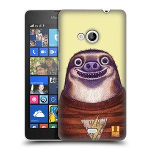 Plastové pouzdro na mobil Microsoft Lumia 535 HEAD CASE ANIMPLA LENOCHOD